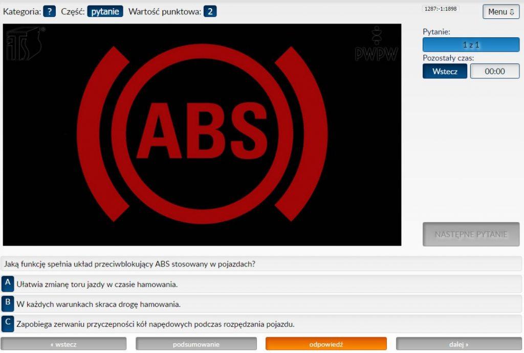 Jaką funkcję spełnia układ przeciwblokujący ABS stosowany w pojazdach?